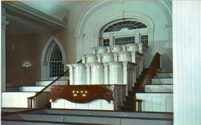 What did the pulpit letters stand for in the temple in Kirtland?