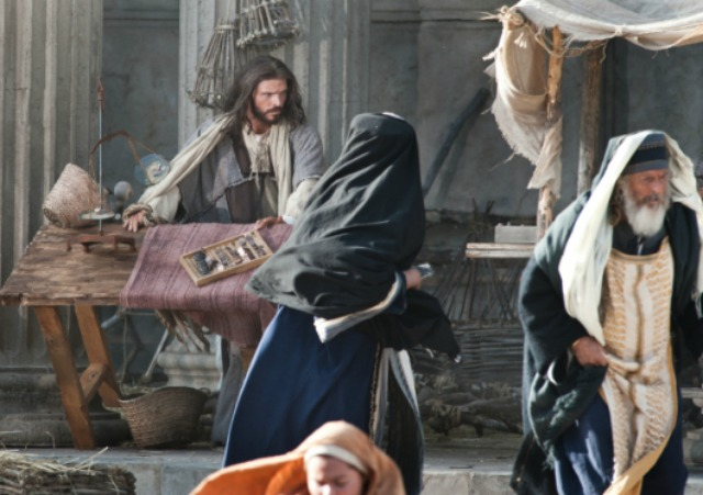 Does the story of Christ clearing the temple justify violence?