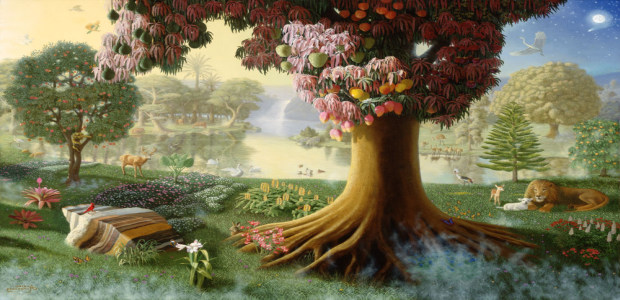 did plant life reproduce and decay in the garden of eden