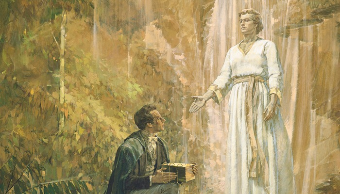 If Joseph Smith received his information from the angel, how do you explain Galatians 1:8