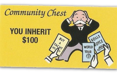 How would a proper tithing amount be defined in the Church for inheritance income?