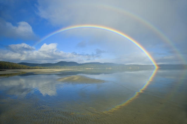 What is the reason for no rainbows appearing in the sky for a year before the Lord comes?