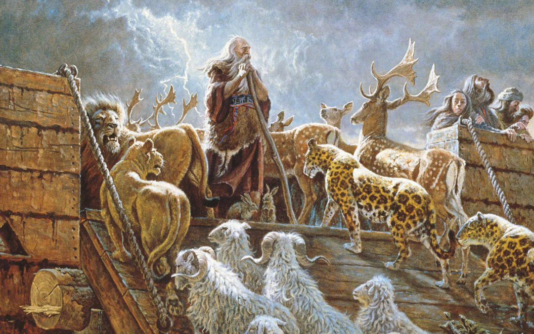 How was it possible that Noah could gather all those animals into the ark?