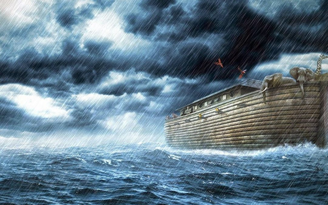 Why weren't the fish and other sea creatures destroyed during the flood?