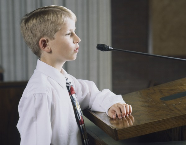 Should children under the age of 8 be allowed to share their testimonies in church?
