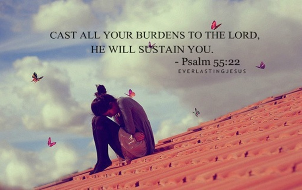 "How does one ""give their burdens to the Lord""?"