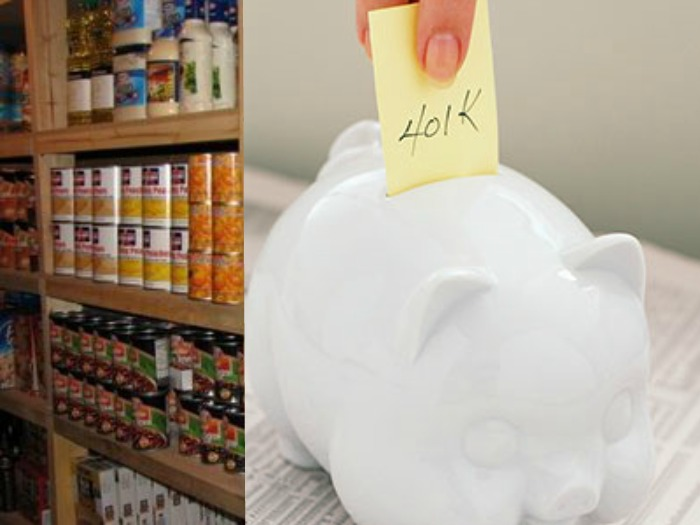 Which would be wiser?  Investing in food or a 401K?