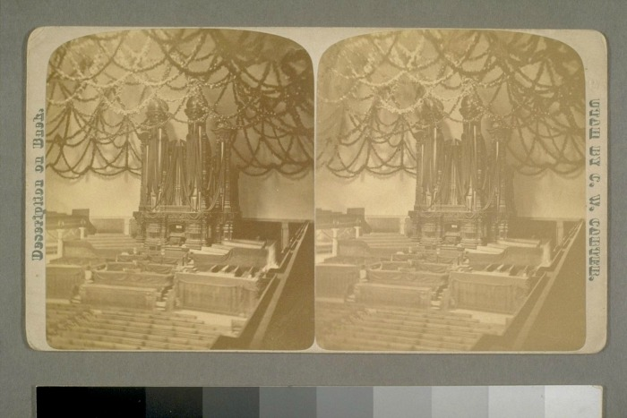 Why was the tabernacle so elaborately decorated for Brigham Young's funeral?