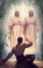 Joseph Smith sees God and Jesus