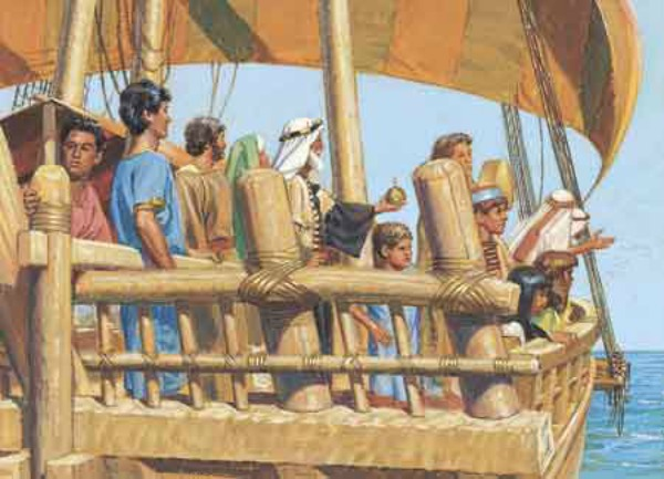 Where was the promised land that Nephi and his family sailed to?