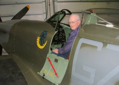 IN THE COCKPIT OF A SPITFIRE MK18