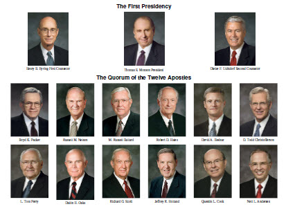 Mormon First Presidency and Apostles