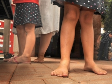 Is it okay to go barefoot to church?