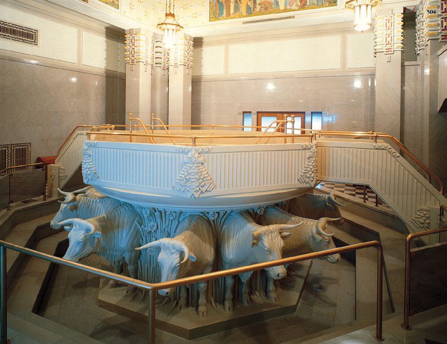 Can there be more than one baptismal font in a temple?