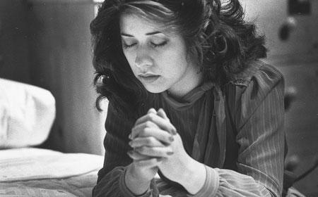 mormon woman praying