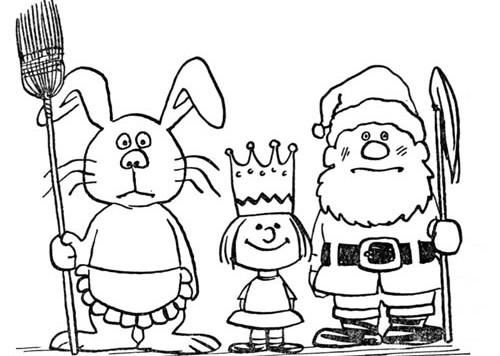 bunny king santa