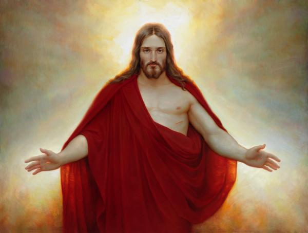 Christ-red-robe Mormon
