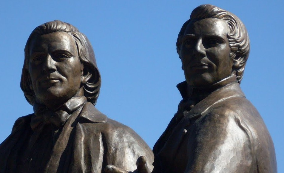 Mormon Joseph Smith and Brigham Young