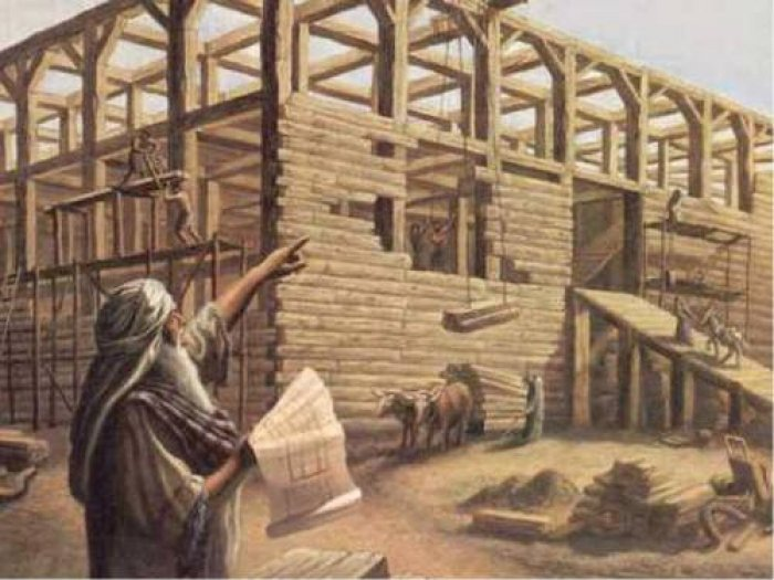 Who helped Noah build the ark?