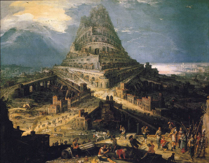 Why is the myth of the Tower of Babel presented as factual?