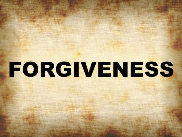 What is the etymology of the word forgiveness?