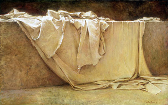 Is there significance in the napkin at Christ's burial being folded?