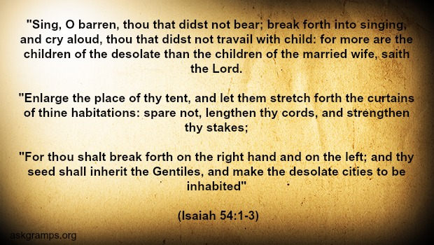 Is there a promise in Isaiah 54 to those women unable to have children?