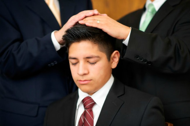 Should the stake and ward be mentioned when performing a Priesthood ordination?