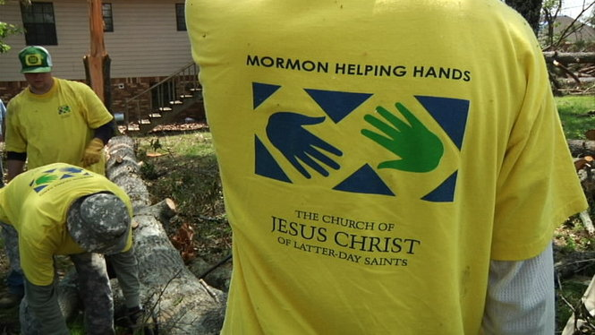 Is it okay to wear t-shirts that proselytize during service projects?