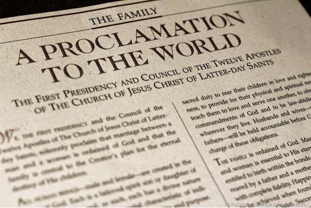 Why isn't the Proclamation on the Family a part of our canon of scripture?