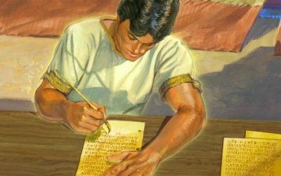 About how old was Nephi when he started writing his record?