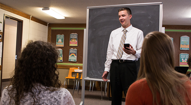 I'm having a hard time coming up with an idea for a seminary devotional.  Can you help?