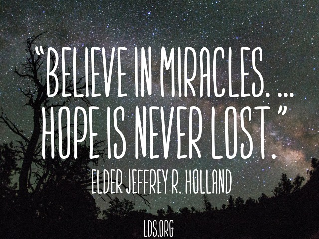 Should we continue to believe in miracles?