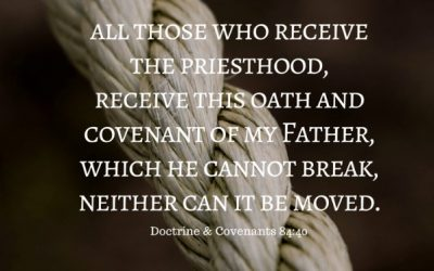 If an oath is a verbal declaration why didn't I have to say anything when ordained to the Melchizedek Priesthood?