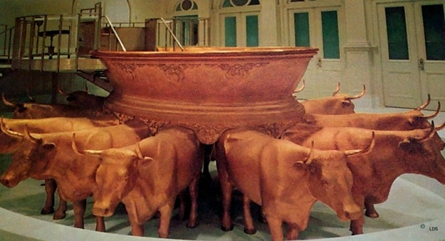 Oxen in the temple?  What is the earth's location during the millennium?