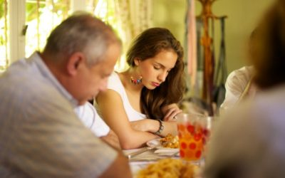 Is it necessary to bless the food when eating out in a restaurant?