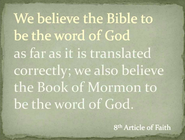 Does the 8th Article of Faith contradict what the Church teaches?