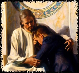 Mormon Christ comforting