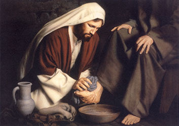 Image result for pics of jesus washing feet